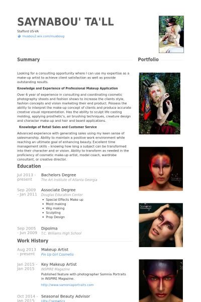 artist cv biography makeup artist bio template saubhaya makeup