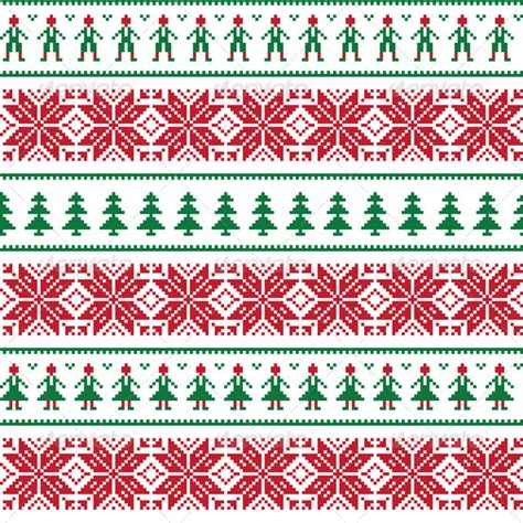 christmas jumper pattern vector free christmas nordic seamless pattern graphicriver