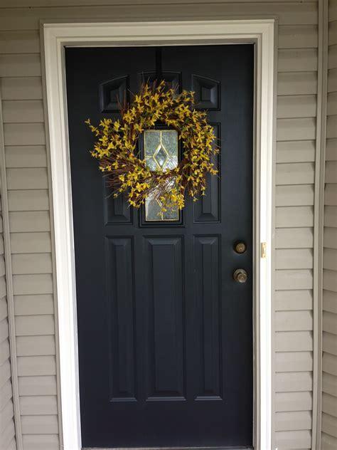 front door painted black lowes valspar duramax dark