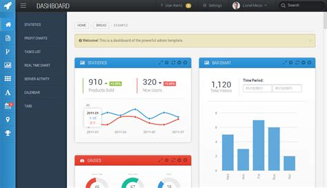 html dashboard templates 30 best responsive html5 admin dashboard panel templates