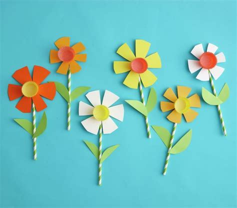 Paper Flower Craft For Children - easy easter crafts for colored paper make paper