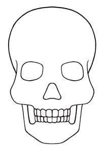 Day Of The Dead Calavera Outline by Skull Template Mini Day Of The Dead Mexico Templates The Dead Mexico And