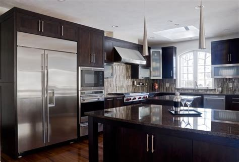 contemporary kitchen cabinet walnut contemporary kitchen modern kitchen cabinetry