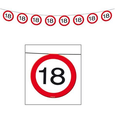 Girlande 18 Geburtstag by Wimpel Girlande Verkehrsschild 18 Geburtstag 12 M G 252 Nstig