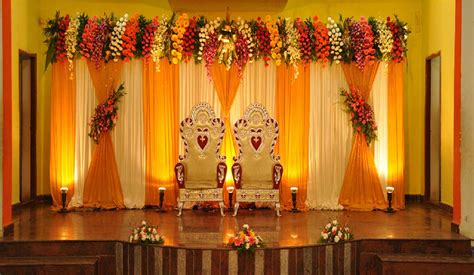 flower decoration for wedding simple wedding stage decoration with flowers homemade