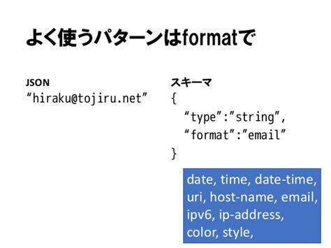 pattern json schema json schemaとphp