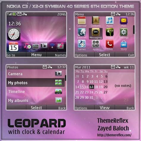 theme nokia x2 cartoon leopard theme for nokia c3 x2 01 themereflex