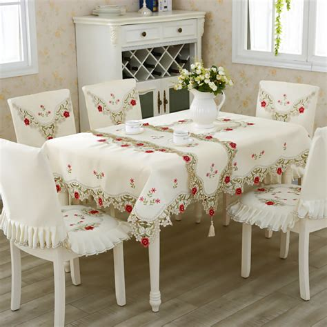 How To Make A Table Cloth by Embroidered Table Cloth Classic Square Home Banquet