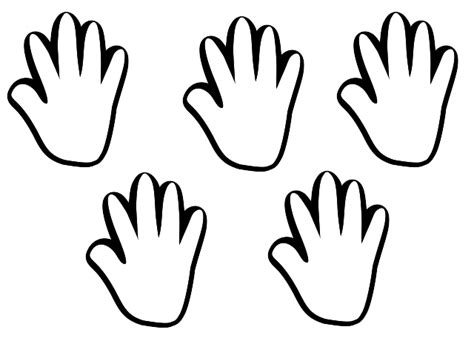 handprint coloring page clipart best