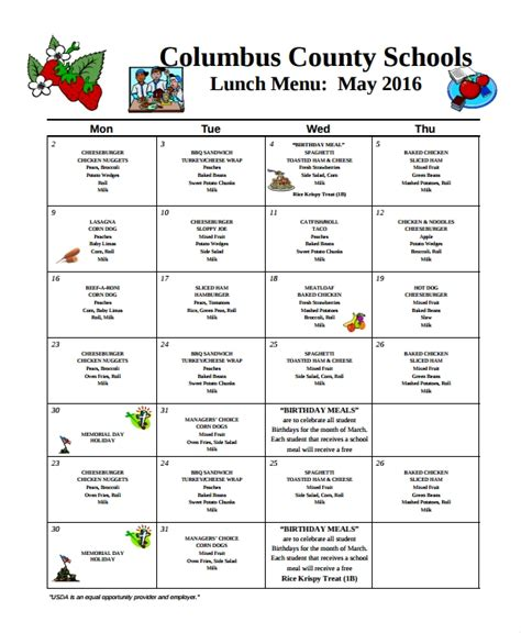 free school lunch menu templates 9 school menu templates sle templates
