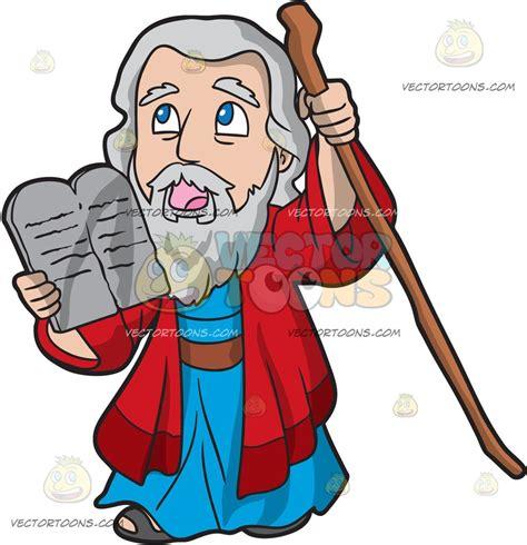 Ten Commandments Of Character moses holding the ten commandments clipart by vector