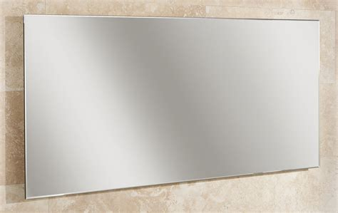 bathroom mirror edging hib willow landscape bevelled edge mirror 1200 x 600mm 77305000