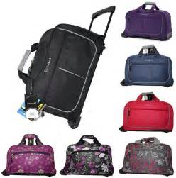 cabin small wheeled holdall trolley luggage