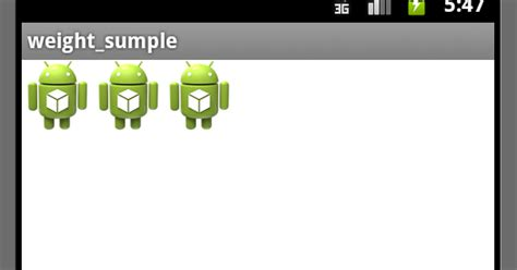 android setlayoutparams layout weight androidアプリ開発 layout weightの設定 setlayoutparams