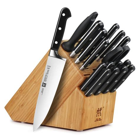 zwilling j a henckels professional s knife block set with