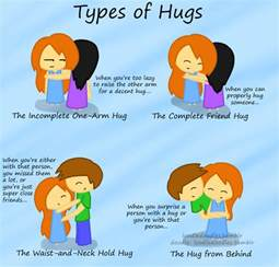 Types Meaning by Rhya S Journal Types Of Hugs