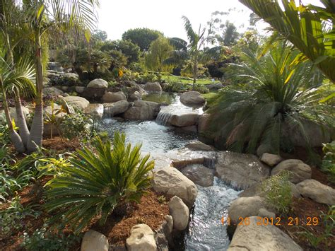 Tropical Rock Garden Tropical Garden Waterfalls Santa Barbara Garcia Rock And Water Design