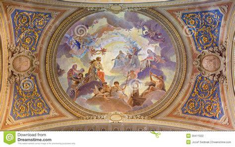 Fresco Ceiling by Venice Ceiling Restored Fresco In Baroque Church
