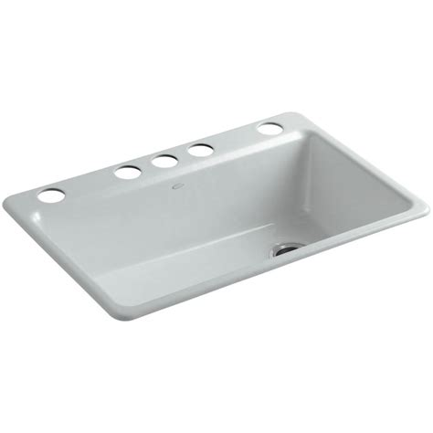 undermount kitchen sink with faucet holes kohler riverby undermount cast iron 33 in 5 hole single