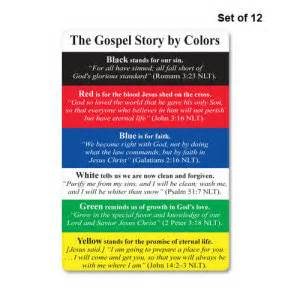 salvation bracelet color meanings gospel story by colors card set set of 12 g3cds12
