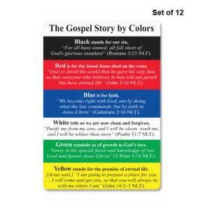 Gospel story by colors 187 gospel story by colors card set set of 12