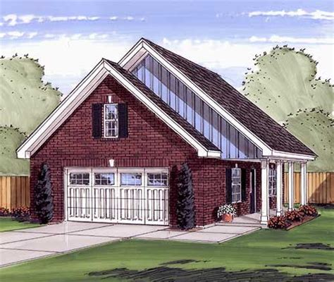 garage plans with porch 2 car garage or workshop with porch 62475dj cad