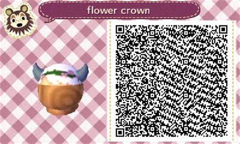 acnl hair qr white hair with horns flower crown hat acnl qr clothes