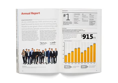 layout of a board report design forecast 2015 graphis