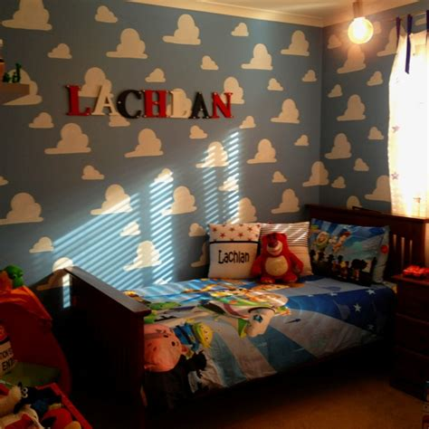 toy story bedroom ideas hand painted toy story clouds for my sons bedroom kids