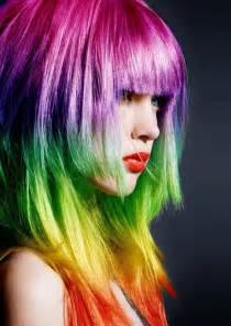 rainbow colored hair rainbow hair madness or cuteness hawaii kawaii