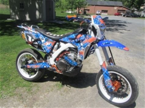 yamaha wrf stunt supermoto motorcycle build  stubbz
