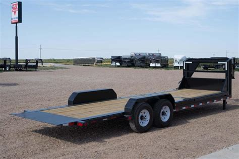 tilt bed trailers 2017 pj 24 gooseneck hd gravity tilt bed trailer happy