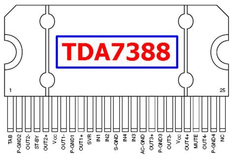 Ic Tda7388 By Bakul Elektronik tda7388 electronic components