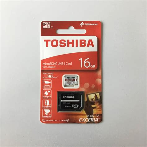 Microsd Toshiba Exceria Uhs 16gb 90mb Adapter Murah micro sd toshiba exceria 16gb карта памет memory card citytel