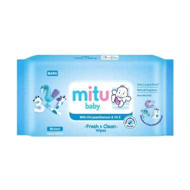 Mitu Baby Wipes Botol 60 Sheet jual mitu baby wipes terbaru harga murah blibli