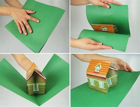 Pop Up House Card Cards Pinterest House Cards Kirigami And Cards Pop Up House Card Template