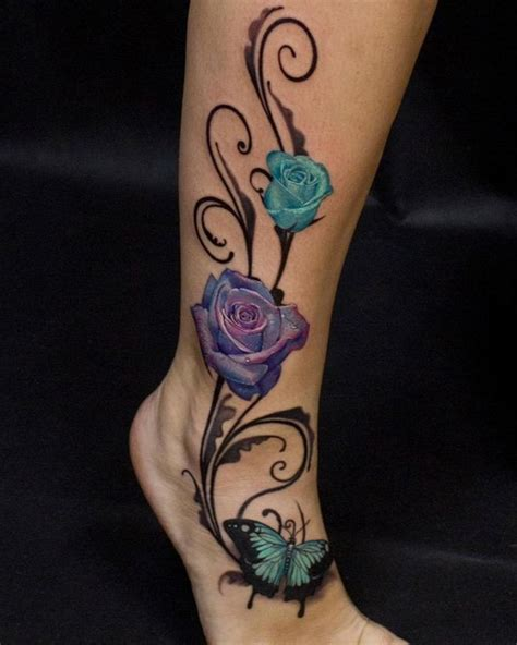 ankle rose tattoo designs best 25 ankle tattoos ideas on s