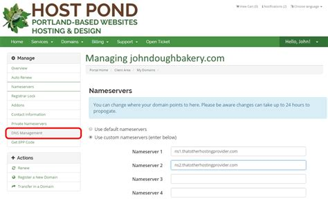 host url how to redirect a domain to a site not hosted by host pond