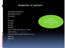 Pointers, virtual function and polymorphism C- Pointer Indirection