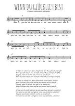Chansons allemandes - Partitions gratuites