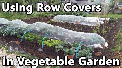 using row covers in vegetable garden fleece enviromesh