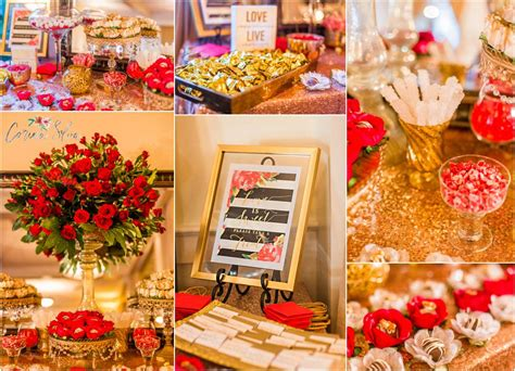 red and gold home decor wedding decor at 21 main events at north beach