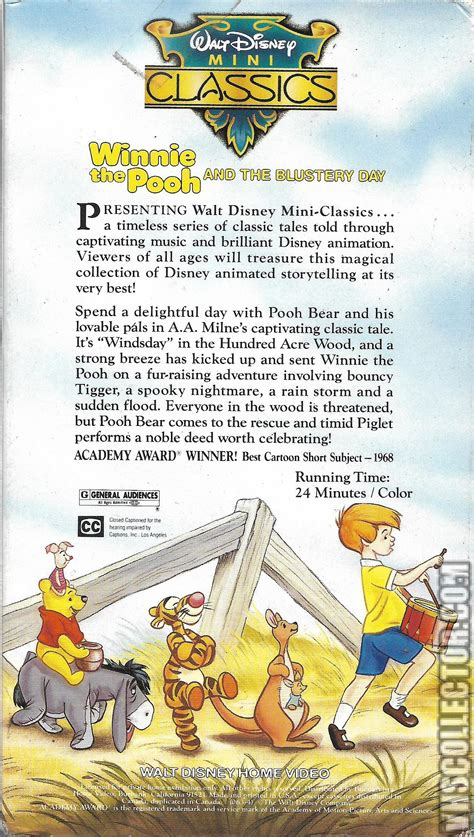 winnie the pooh and the blustery day vhscollector