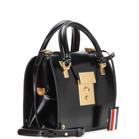 Introducing The Rafe Voltaire Penelope Satchel Handbag by Thom Browne Mrs Thom Mini Leather Shoulder Bag In Black