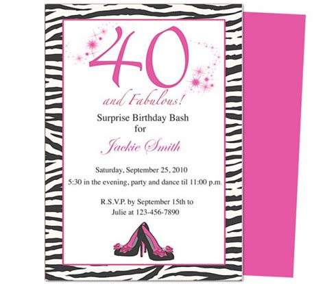 40th birthday invitation exle template for 40 th birthday invitation orderecigsjuice info