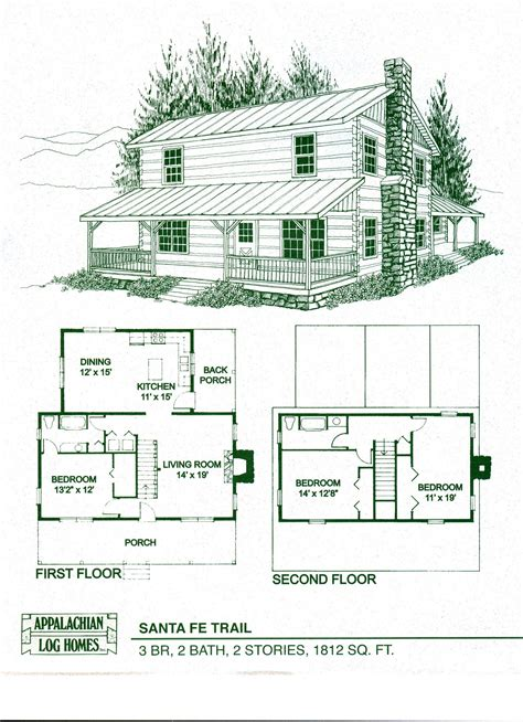 log cabin floor plans log home package kits log cabin kits santa fe trail model