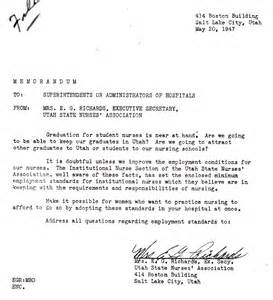 Resignation Letter Sl by S History Month Highlight Salt Lake County School Of Nursing Salt Lake County Archives