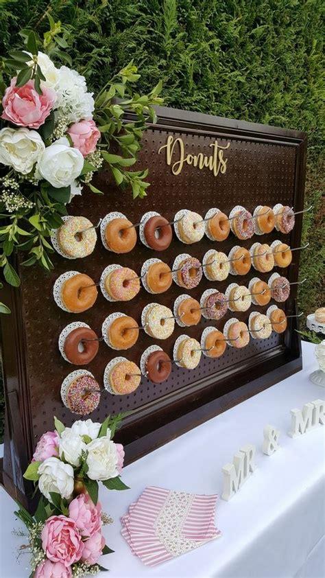 donut wall  outdoor backyard wedding ideas