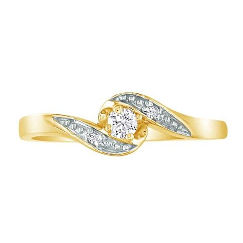 bypass 08ct promise ring in 10k yellow gold