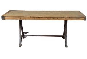 industrial steel workbench kitchen island table omero home tables etc bars amp islands reclaimed pine work